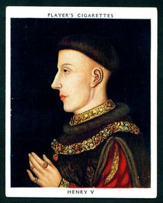Player's, Kings & Queens of England (large size) 1935. No14 Henry V (reigned 1413-22)