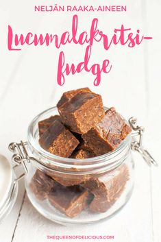Healthy licorice fudge is raw, vegan and refined sugar free. Fudge Recipes, Raw Food Recipes, Gluten Free Recipes, Dessert Recipes, Paleo Fudge, Healthy Recipes, Healthy Vegan Desserts, Vegan Treats, Healthy Snacks