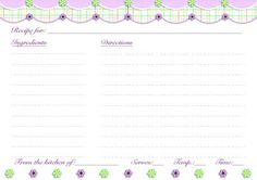 400 free recipe cards you can print out. This includes 100 recipe card templates you can type in. Printable Recipe Page, Printable Recipe Cards, Free Printable Calendar, Free Printables, Canning Labels, Canning Recipes, Recipe Paper, Weekly Menu Planning, Recipe Scrapbook