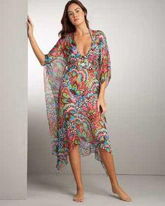 Fashion 101, Boho Fashion, Fashion Outfits, Wiccan Clothing, Beachwear Fashion, Bohemian Mode, Caftan Dress, Colourful Outfits, Elegant Outfit