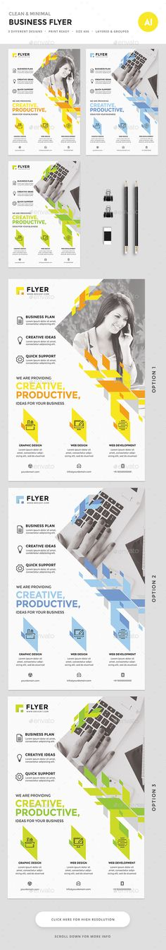 Corporate Flyer  — PSD Template #magazine #media • Download ➝ https://graphicriver.net/item/corporate-flyer/18363392?ref=pxcr