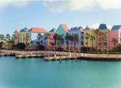 Color blocked homes - Bahamas