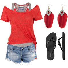 A fashion look from December 2012 featuring Soul Cal t-shirts, One Teaspoon shorts and Old Navy flip flops. Browse and shop related looks.