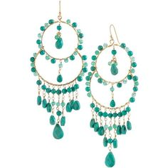 Stella & Dot Azure Couture Earrings (€42) ❤ liked on Polyvore featuring jewelry, earrings, accessories, turquoise, stella & dot, earring jewelry, chandelier earrings, green chandelier earrings, stella dot jewellery and couture jewelry