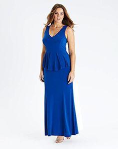 Peplum Maxi Dress | Simply Be
