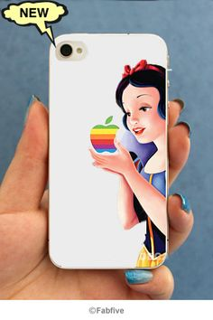 Snow White cover and protective skin for iphone 4 & 4s