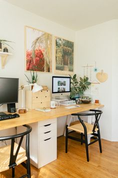 Our Home Office/Guest Bedroom — Black & Blooms – Home Office Design Layout Bedroom Office Combo, Guest Bedroom Home Office, Spare Room Office, Home Office Space, Home Office Design, Home Office Decor, Home Decor, Bedroom Apartment, Cozy Office