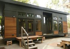 Amazing non-toxic tiny homes by Sprout Tiny Homes. We are lucky enough to have two of their gorgeous tiny homes on display at the #tinyhousejamboree