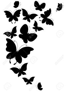 Illustration of butterfly, butterflies, vector vector art, clipart and stock vectors. Find butterflies design stock vectors and royalty free photos in HD. Billedresultat for butterflies Simple Wall Paintings, Wall Painting Decor, Fabric Painting, Fairy Silhouette, Silhouette Clip Art, Pencil Art Drawings, Art Drawings Sketches, Wall Drawing, Stencil Patterns