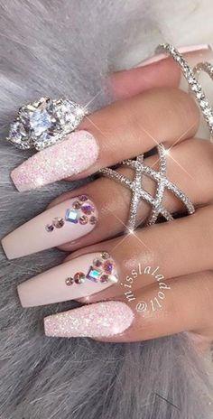 25 Design de unhas de mármore com água e esmalte 2 - Styleful Marble Nails - Marble Nail Designs, Pink Nail Designs, Acrylic Nail Designs, Acrylic Nails, Nails Design, Marble Nails, Pink Acrylics, Trendy Nail Art, New Nail Art