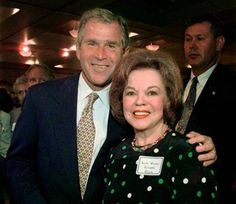 Shirley Temple Black with President George Bush.