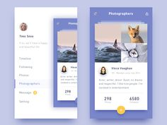 photo-sharing app by Ink Glow #Design Popular #Dribbble #shots