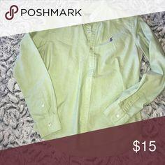 Polo Ralph Lauren button down Long sleeved Ralph Lauren Golf shirt size 6 (about a small) pale green Polo by Ralph Lauren Tops Button Down Shirts