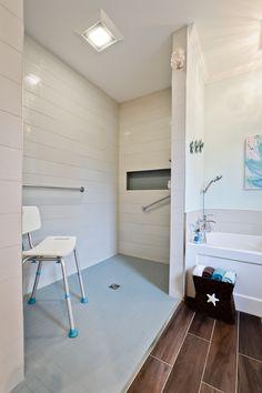 Un projet réalisé par des entrepreneurs Réno-Assistance répondant à un problème de #mobilité! #salledebain #bathroom #rénovation Bathtub, Bathroom, Design Ideas, Standing Bath, Washroom, Bathtubs, Bath Tube, Full Bath, Bath