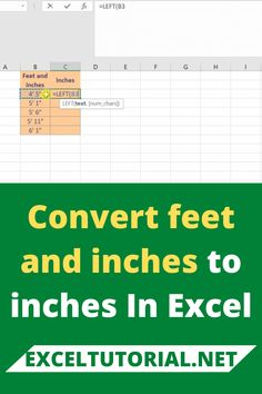 Convert feet and inches to inches In Excel. . #Excel #microsoftexcel #Exceltutorial #Exceltutorials #Exceltutor #tutorialexcel #microsofttrainingexcel #microsoftexceltips #Excelformulas #Excelvba #Exceltips #Exceltipsandtricks #Excelvideo #Excelshorcuts Excel Formulas, Excel For Beginners, Quotation Marks, Microsoft Excel, What You Can Do, Getting To Know, Just Giving, Quotations, Texts