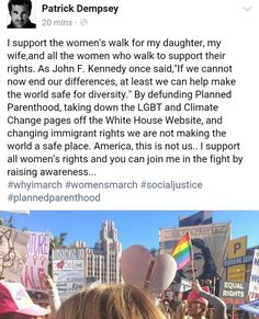 Patrick Dempsey, To My Daughter, At Least, Washington, March, How To Plan, Mars