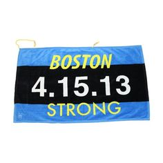 Boston Strong Sports Towel with Water resistant pockets and grommet on