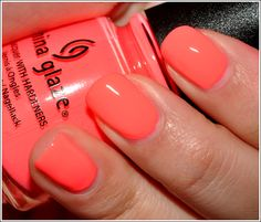My new, most favoritest color EVER...Flip Flop Fantasy by China Glaze is a sweet, vivid melon pink perfect for summer!
