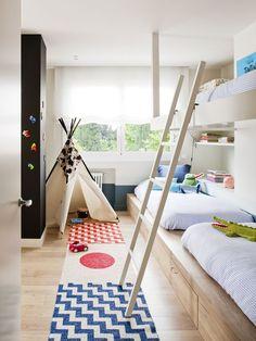 Dormitorio infantil : Chambre d'enfant minimaliste par A! Baby Bedroom, Girls Bedroom, Childs Bedroom, Kid Bedrooms, Bedroom Curtains, Girl Rooms, Scandinavian Kids Rooms, Shared Rooms, Kids Room Design