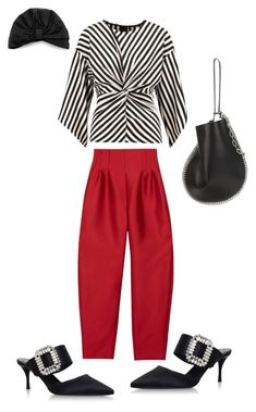 """""""18022018/2"""" by ekochetkova ❤ liked on Polyvore featuring River Island, Roger Vivier, Alexander Wang, Jennifer Behr, contestentry and nyfwstreetstyle"""