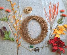 DIY Fall Wreath Tutorial - Starting Out in Style  www.startingoutinstyle.com #Fall #Wreath #DIY #decoratingonabudget #homemade #decor