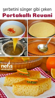 Portakallı Revani Tarifi (videolu) – Nefis Yemek Tarifleri – Kurabiye – The Most Practical and Easy Recipes Food Cakes, How To Make Orange, Curry Recipes, Cake Recipes, Cake Decorating, Deserts, Yummy Food, Delicious Recipes, Treats