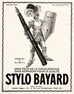 Ministry of Plenty: 1924 Bayard fountain pen ad, France