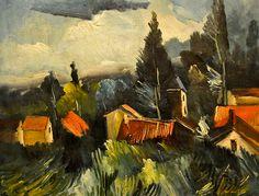 Maurice De Vlaminck - The Storm, 1912 at the Virginia Museum of Fine Arts (VMFA) Richmond VA