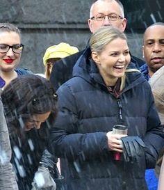 Lana & Jennifer on set - March 28, 2016