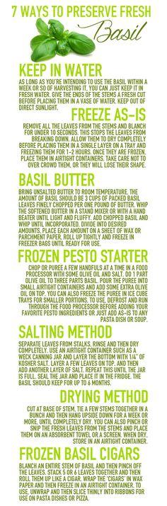 Basil tips
