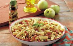 Ham & Green Tomato Pasta - We liked this pasta so much that it's a wonder any tomatoes in the garden were left to ripen.