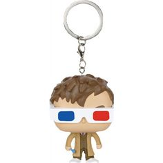 Pop! Vinyl - Dr Who 10th Doctor 3D Glass Pop Keychain