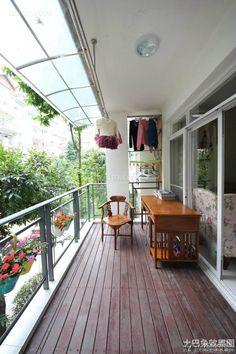 85 square meter apartment balcony window decoration effect 2016
