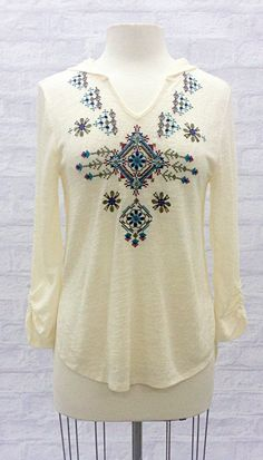 Embroidered Top with Hood