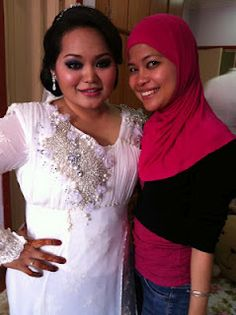 My hair+makeup and dress - 12.2.12 reception (Malaysian Wedding)