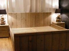 Tweepersoonsbed van steigerhout (12161830)