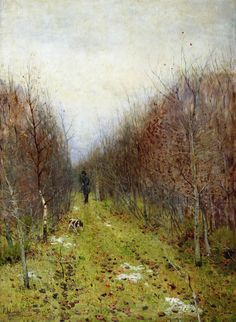 Autumn Landscape with Hunter by Isaac Levitan