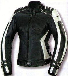 Ladies Motorcycle Jackets with fine quality leather. Protection on elbows, back and shoulders.