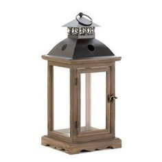 Large Rustic Wood Lantern - AC Treasures | Scott's Marketplace
