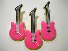decorated guitar cookie cutter