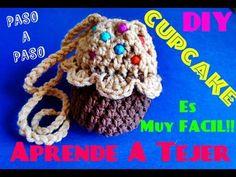 Tejer Monedero CupCake !!! La Manera MAs Facil de Tejer l!! - YouTube