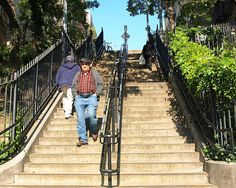Pinehurst Avenue Cliff Stairwell, Washington Heights New York City by jag9889, via Flickr