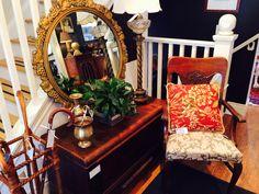 Greystone Fine Furniture Burlington Ontario Canada #greystonetreasures @greystoneff retro trunk hope chest cedar chest round mirror