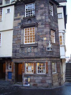 The John Knox House on The Royal Mile in Edinburgh, Scotland