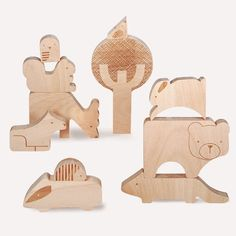 Petit Collage | Petit Collage Forest Jumble Wood Puzzle + Play