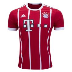 Bayern Munchen 2017/18 Home Men Soccer Jersey Personalized Name and Number