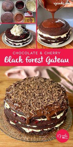 Black Forest Gateau Cupcake Recipes, Dessert Recipes, Dessert Ideas, Cake Ideas, Desserts, Choco Chocolate, Chocolate Recipes, Baking Tins, Baking Recipes