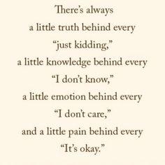 Always a little truth...
