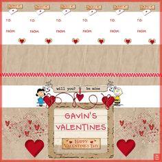 Valentine bucket label