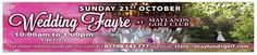 Check out our Wedding Fair, Sunday 21st October, free entry, everyone welcome, Free welcome drink & canapes on arrival, fashion show by Halo Dresses, (Maylands Recommended Supplier) Why have your wedding at Maylands?  Come along and see all the reasons why you should have your wedding here.  Two Beautiful function rooms - Grand Hall & Brasserie Restaurant   See our Pictureseque Golf Course   For more information please contact clare@maylandsgolf.com